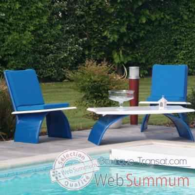 Fauteuil design Vagance bleue Art Mely - AM17
