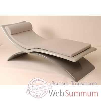 chaise longue design vagance grise matelas gris art mely am04 dans art mely. Black Bedroom Furniture Sets. Home Design Ideas