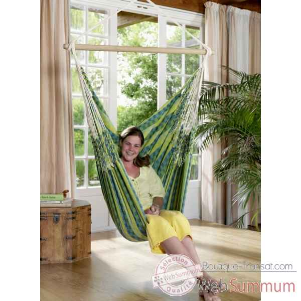 Video Chaise hamac Carolina La Siesta modele vert -CAC16-4