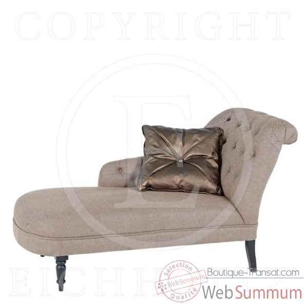 Eichholtz chaise longue droite lin camel chr04805 dans chaise longue interieur - La chaise longue boutique ...