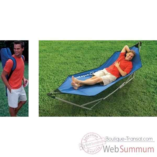 Hamac portable sans broche kelsyus colori bleu 80007spb for Portable dans piscine