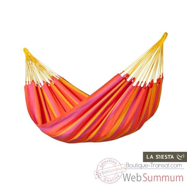 Hamac simple colombien sonrisa mandarine (resistant aux intemperies) La Siesta -SNH14-5