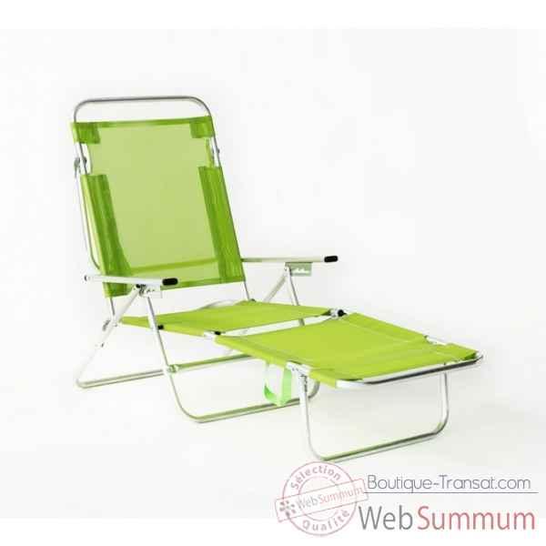 Segura 175 chaise longue de plage pliable multipositions longueur transat - Transat plage pliable ...