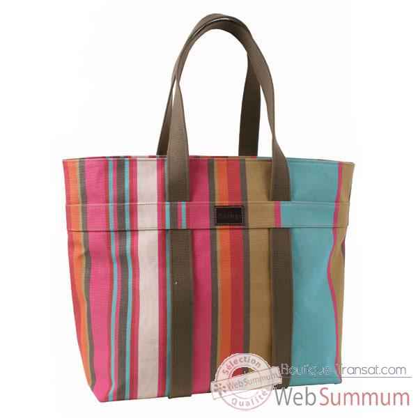 Sac carré sangle Artiga Guethary coton