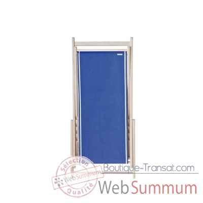 toile transat chilienne pr t poser uni cobalt tissage de luz sur boutique transat. Black Bedroom Furniture Sets. Home Design Ideas