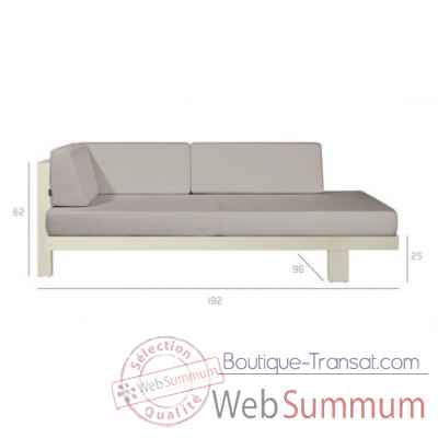 Pure sofa off-white meridienne droite Tribu -Tribu147
