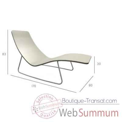Chaise longue transat